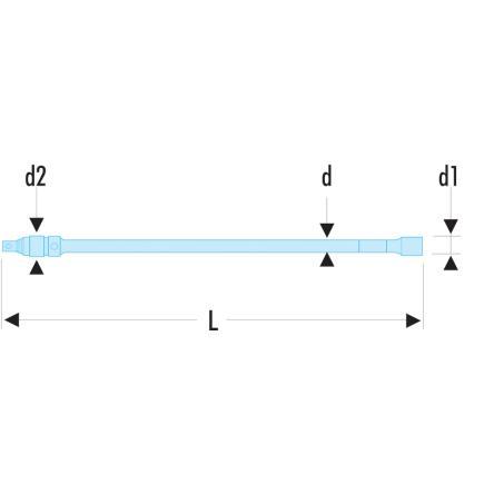 """FACOM R.RC - Verlängerung 1/4"""" mit Verriegelung - 3"""