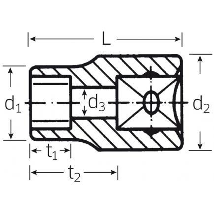Relativ STAHLWILLE - 03270012 - 50TX - Steckschlüsseleinsätze für Außen IH82