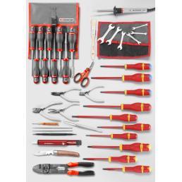 FACOM Sortiment CM.EL30 mit Werkzeugkasten mit 3 Fächern BT.9 (56 pcs) - 1