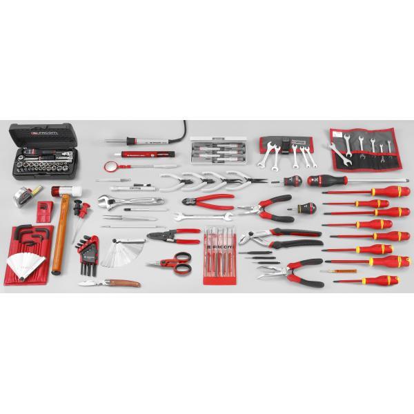 FACOM Sortiment Elektromechanik  Kundendienst mit 119 Werkzeugen, metrisch und Zollmaße - 1