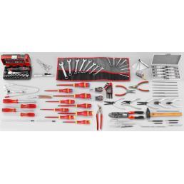 FACOM Sortiment Elektromechanik  Kundendienst mit 122 Werkzeugen - 1