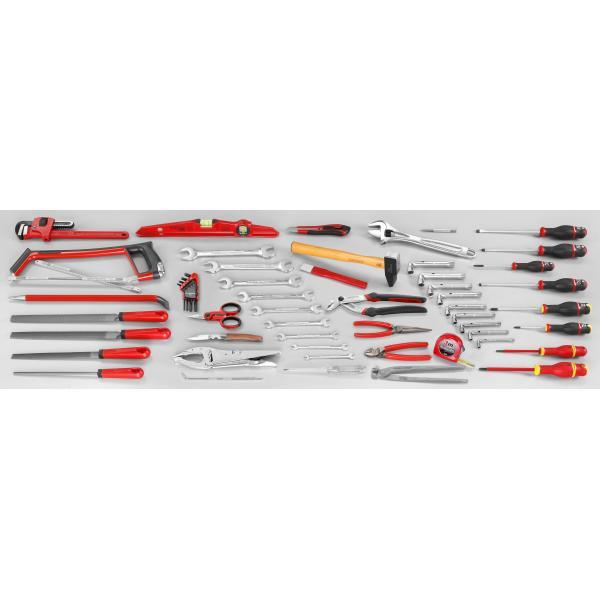 FACOM Sortiment CM.SG4A mit Werkzeugkasten mit 5 Fächern BT.13A (69 sts) - 1