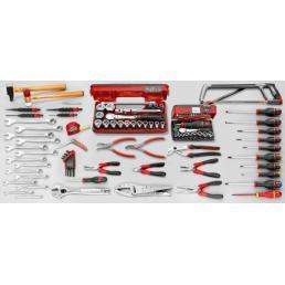 FACOM Sortiment CM.110A mit fahrbarem fahrbarem Werkzeugkasten JET.CR4GM3 (123 sts) - 1