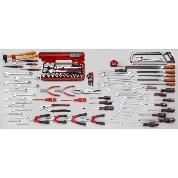 FACOM Sortiment für allgemeine Mechanikarbeiten, 102 Werkzeuge mit Zollmaßen - 1