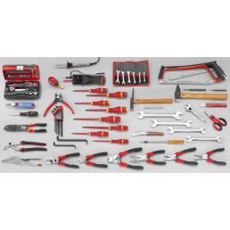 FACOM Sortiment CM.E17 mit Werkzeugkasten mit 5 Fächern BT.11A (104 sts) - 1