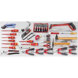 FACOM Sortiment CM.E15 mit Werkzeugkasten mit 5 Fächern BT.11A (60 sts) - 1