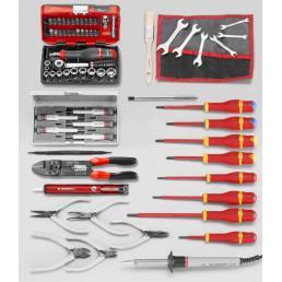 FACOM Sortiment CM.EL31 mit Werkzeugkasten mit 3 Fächern BT.9 (70 sts) - 1