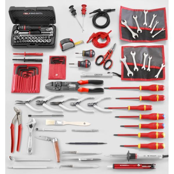 FACOM Sortiment Elektronik mit 99 Werkzeugen, metrisch und Zollmaße - 1
