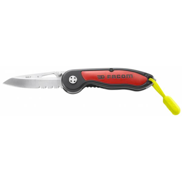 FACOM Messer mit Klingensicherung und Bi Material Heft  RFID - 1