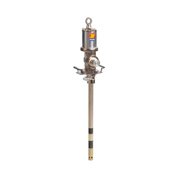 MECLUBE Industrial air operated pump for grease ratio 50:1 Mod. 950 flanged double effect shank length 740 mm - 1