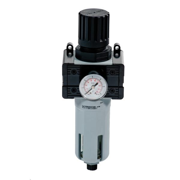 """MECLUBE Pressure regulator with filter and gauge Inlet – outlet connection F 1/2"""" - 1"""