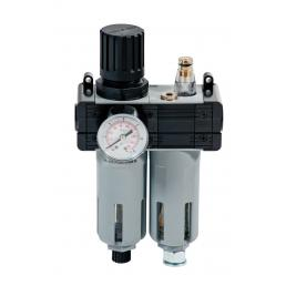 "MECLUBE Pressure regulator with filter, lubricator and gauge Inlet – outlet connection F 1/4"" - 1"