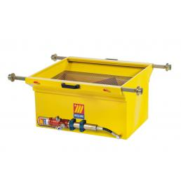 MECLUBE Exhausted oil drain unit for pits 120 l With emptying pump - 1
