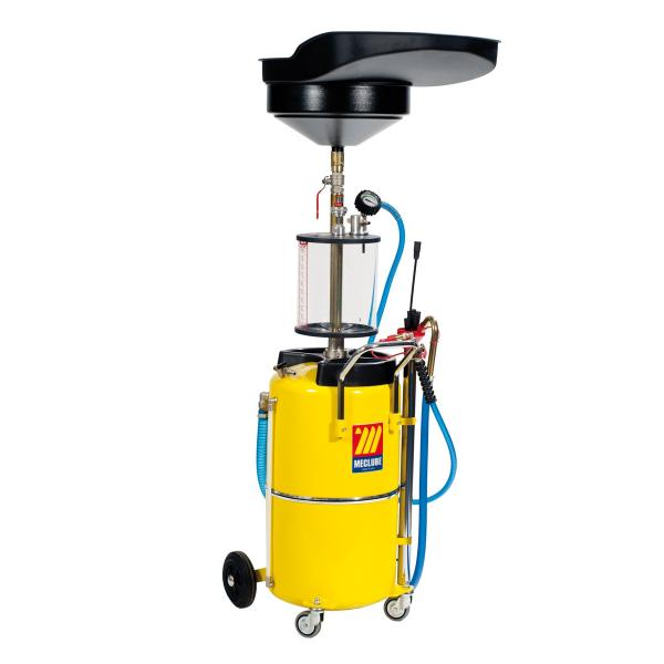 MECLUBE Air operated suction drainer for exhausted oil 90 l with pre chamber - 1