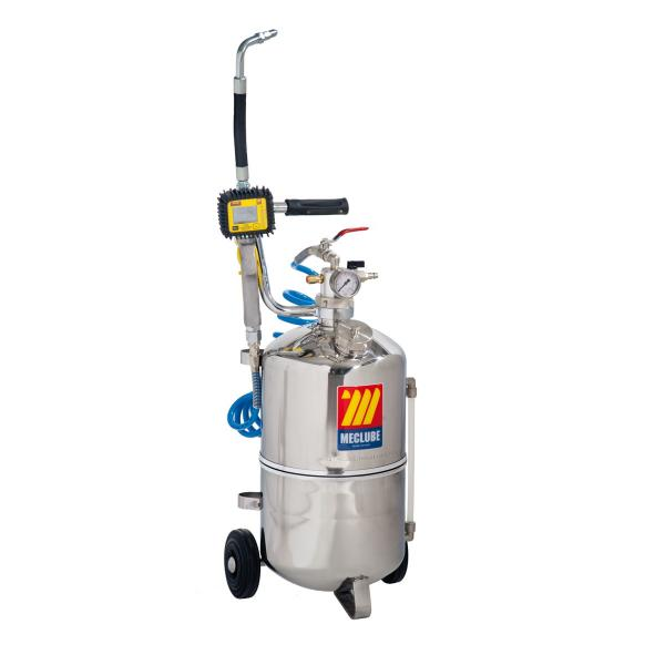 MECLUBE 24 l pneumatic oil dispenser stainless steel - 1