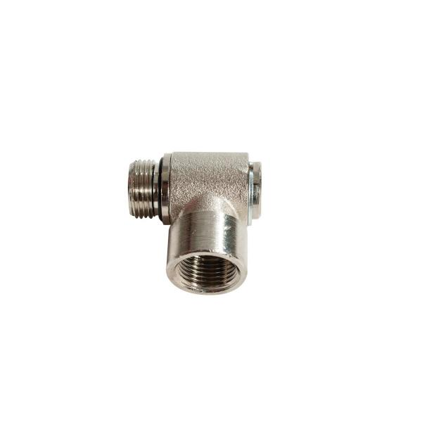 """MECLUBE Swivelling joint 90° AIR WATER 20 bar F 3/8""""G - 1"""