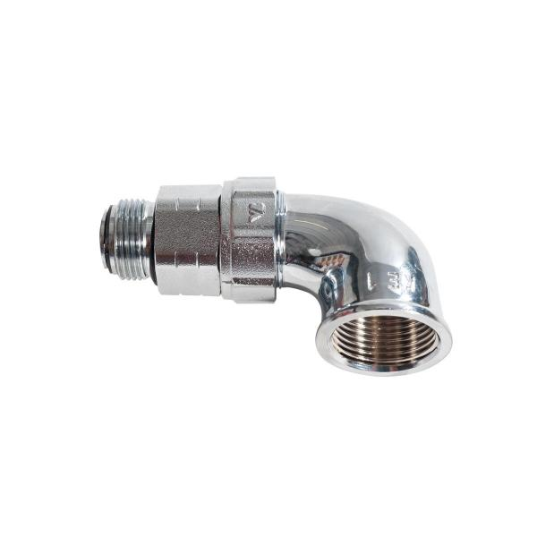 """MECLUBE Swivelling joint 90° AIR WATER 20 bar F 3/4""""G - 1"""