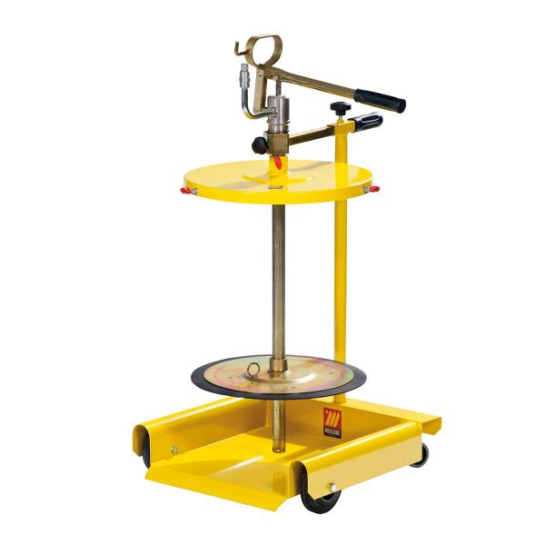 MECLUBE Wheeled manual transfer grease pump for drums of 50 60 kg - 1