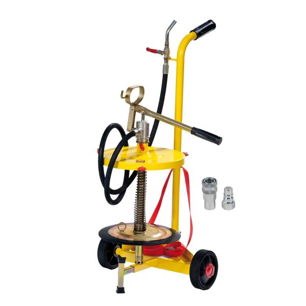 MECLUBE Wheeled manual transfer grease pump for drums of 18 30 kg - 1