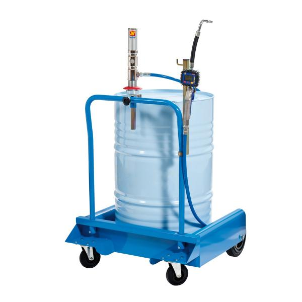 MECLUBE Wheeled set for anti freeze liquid for barrels of 180 220 l Mod. 501X ratio 1:1 Delivery capacity 35 l/min - 1