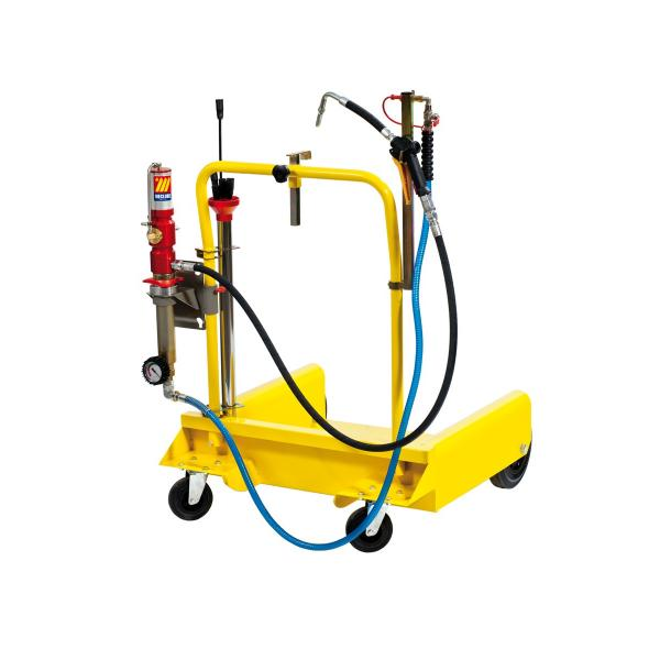MECLUBE Wheeled aspirator with pump for barrels of 180 220 l - 1