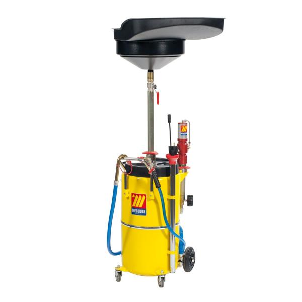 MECLUBE Air operated oil suction drainer 90 l with pneumatic oil pump - 1
