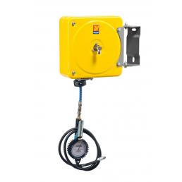 MECLUBE Swivelling closed hose reel for inflating tyres - 1