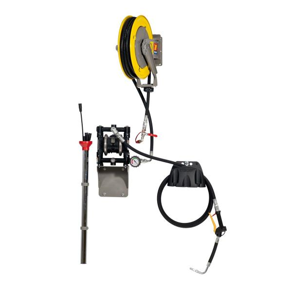MECLUBE Aspirators with wall fixed air operated diaphragm pump for exhausted oil - 1