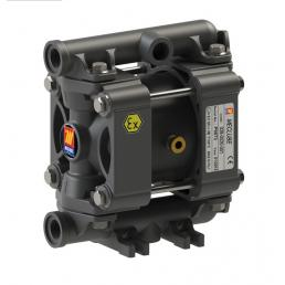 MECLUBE Air operated double diaphragm pumps Mod. P20 in POLYPROPYLENE Gasket in ptfe - 1