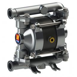 MECLUBE Air operated double diaphragm pumps Mod. FOOD SS20 in STAINLESS STEEL SS AISI 316 Balls in PTFE - 3