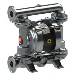 MECLUBE Air operated double diaphragm pumps Mod. FOOD SS35 in STAINLESS STEEL SS AISI 316 Balls in PTFE - 1
