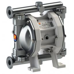 MECLUBE Air operated double diaphragm pumps Mod. FOOD SS55 in STAINLESS STEEL SS AISI 316 Balls in SS AISI 316 - 1