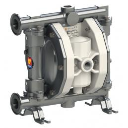 MECLUBE Air operated double diaphragm pumps Mod. FOOD SS110 in STAINLESS STEEL SS AISI 316 Balls in PTFE - 3