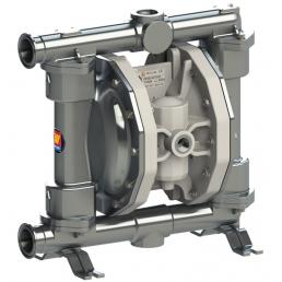 MECLUBE Air operated double diaphragm pumps Mod. FOOD SS170 in STAINLESS STEEL SS AISI 316 Balls in SS AISI 316 - 1