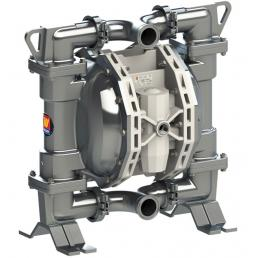MECLUBE Air operated double diaphragm pumps Mod. FOOD SS550 in STAINLESS STEEL SS AISI 316 Balls in PTFE - 1