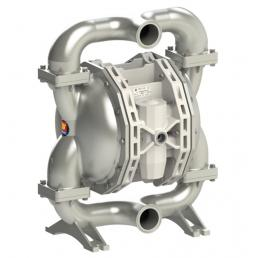 MECLUBE Air operated double diaphragm pumps Mod. FOOD SS700 in STAINLESS STEEL SS AISI 316 Balls in PTFE - 1