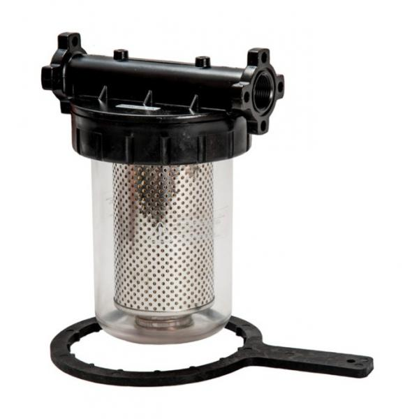 MECLUBE Water separating transparent delivery filter for diesel fuel 105 l/min - 1