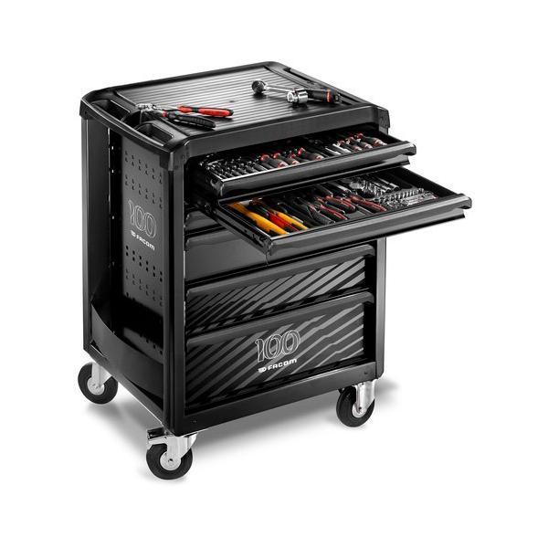 FACOM Roll Werkzeugwagen 6 Schubladen mit 7 Modulen Sortiment  limitierte Auflage, Metallkasten kostenlos - 1
