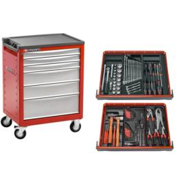 FACOM Chrono Werkzeugwagen 6 Schubladen mit v5 Sortiment - 1