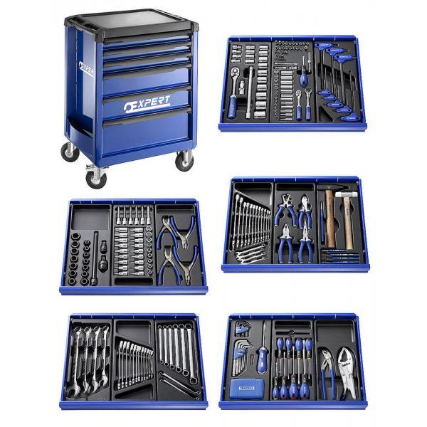 EXPERT X285 Werkzeugwagen 7 Schubladen 285 tlg, 3 Module - 1