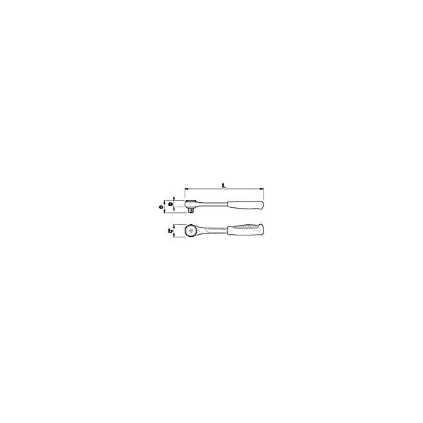 "USAG Umschaltknarre 1/2"" (Zertifikat 1P51) - 1"