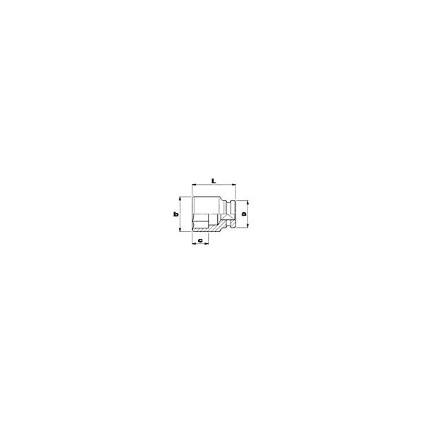 USAG FULLCONTACT-Kraftschraubereinsatz 6-kant - 1