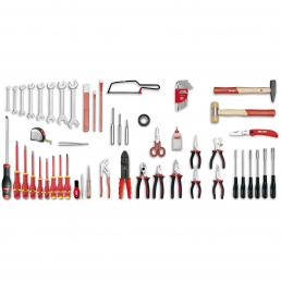 USAG U04960080 - 496 I - Werkzeugsortiment ELEKTROTECHNIK (57-teilig) | Mister Worker®