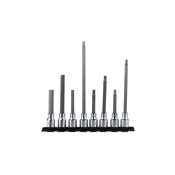 USAG 8-teiliger Satz Steckschlüsseleinsätze lang für Innensechskantschrauben - 1
