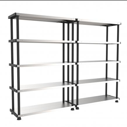 terry 1002764 mp shelf 120 rc regal mit 5 fachb den auf metall und kunststoff mit 2 optionen. Black Bedroom Furniture Sets. Home Design Ideas