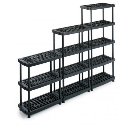 terry 1001251 scaffale 8040 5 nero regal aus kunststoff 79x39x176 mit 5 h henverstellbaren. Black Bedroom Furniture Sets. Home Design Ideas