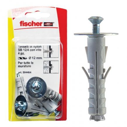 FISCHER Expansion plug with screw countersunk head with combined footprint in blister SB K - 1