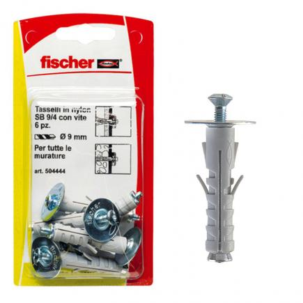 FISCHER Expansion plug with countersunk screw with combined footprint in blister SB K - 1