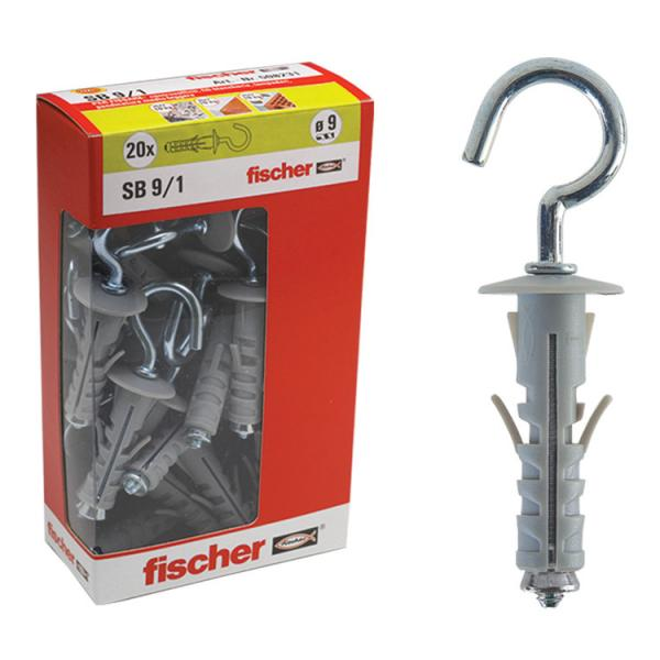 FISCHER Expansion plug with short hook in box SB Y - 1