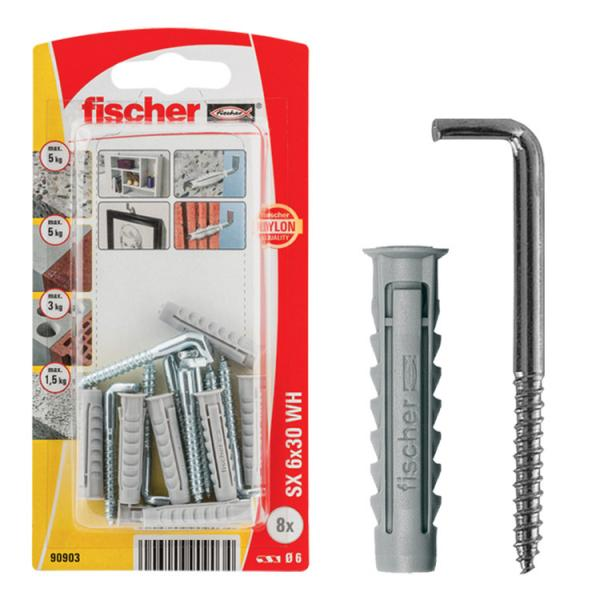 FISCHER Expansion plug with hook in blister SX HK - 1